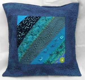 Blue crazy cushion for sale