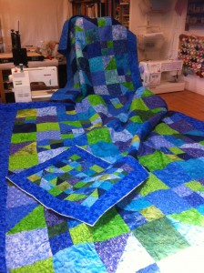Blue and Green Quilts
