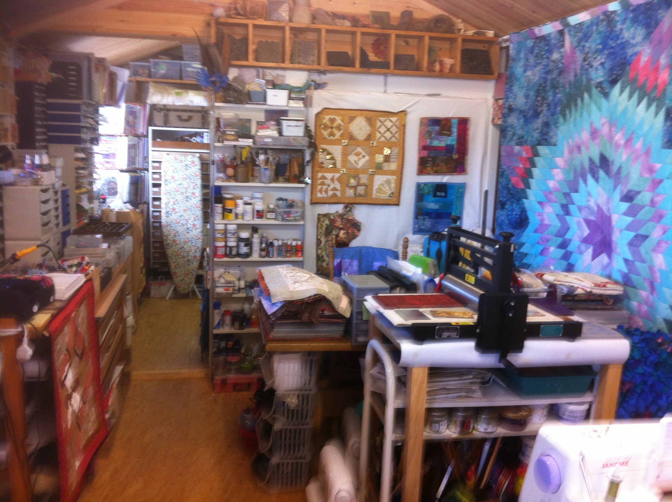 More of a view of left side of quilters cottage studioHome Art Studio Furniture Uk  Garden Studio  Vintage Industrial  . Artist Studio Furniture Uk. Home Design Ideas