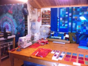 First view to the left inside Quilters Cottage Studio