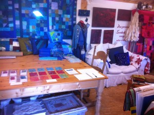 First view inside Quilters Cottage Studio to the right