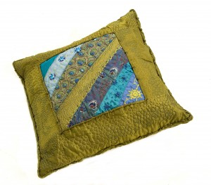 Green and Blue Cushion