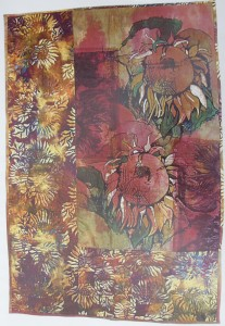 Two sunflower Wallhanging (Sold)