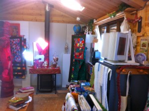 View to the right in Quilters Cottage Studio