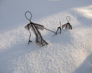 Wire family in The Snow!