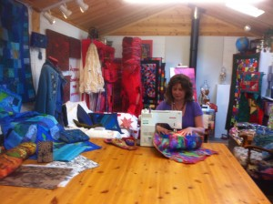 Working in Quilters Cottage Studio