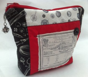 Black,white and red corset inspired bag