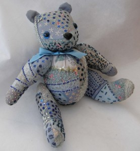 Blue Crazywork Bear