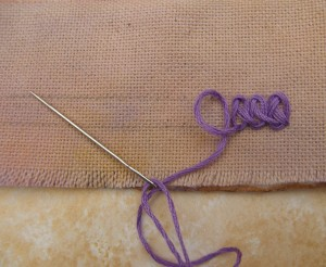 Braid Chain Stitch 1