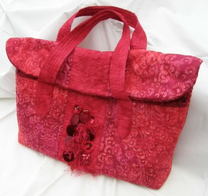 Red Embellished Bag