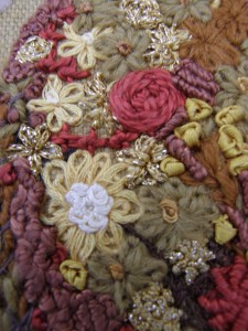 Autumn Flower Stitch detail