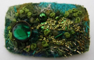 Green Sparkle Brooch