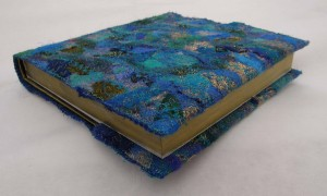 Blue Embellished Covered Sketchbook