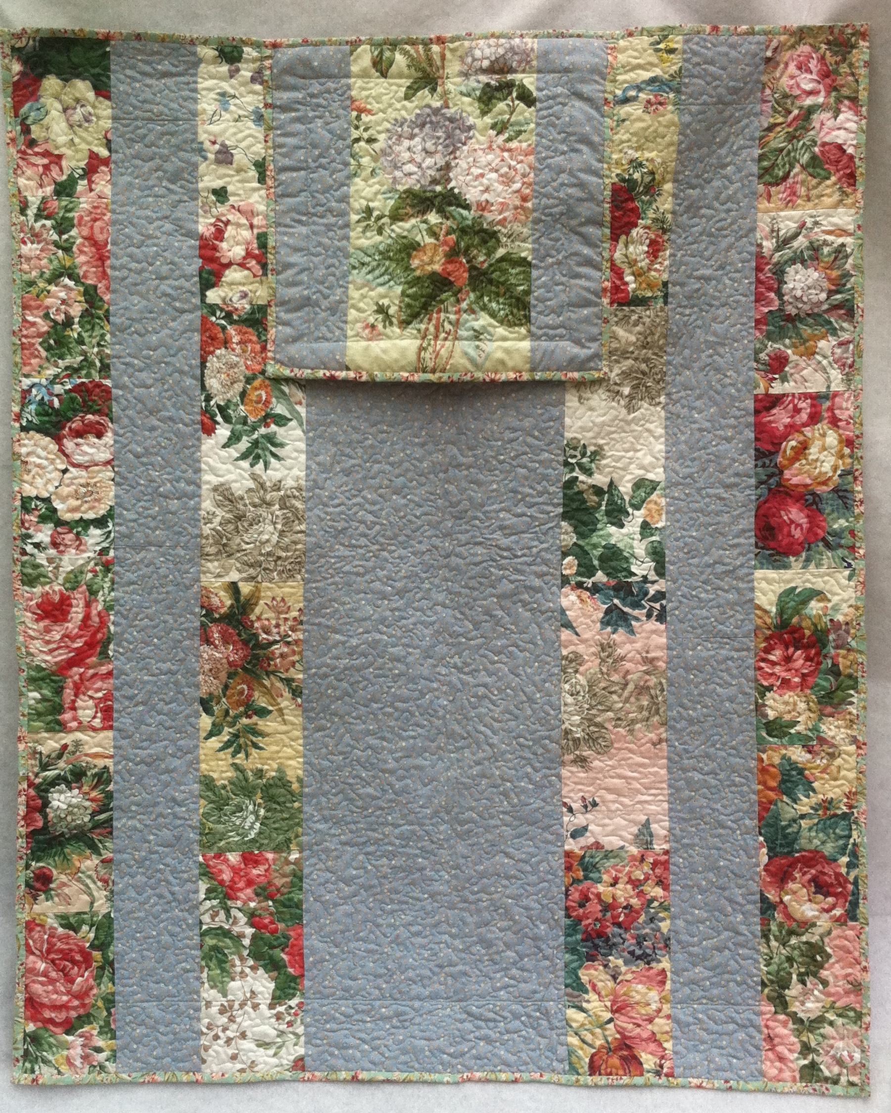 Crochet Quillow : Garden Flowers Quillow Back