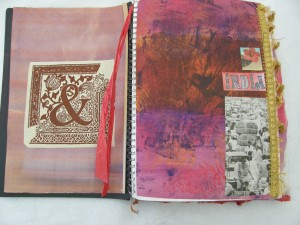 India Sketchbook inside cover