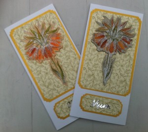 Mothers Day Cards with lily detail