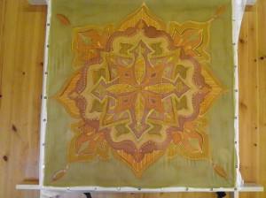 Silk painted Mandalas Wall Hanging