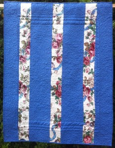 Back of Floral Brick Patterened Quilt