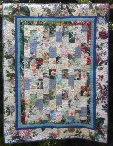 Floral Brick Patterned Quilt