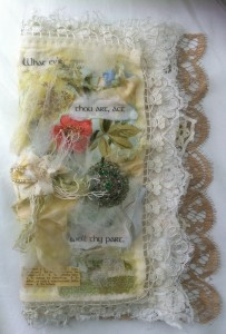 Mixed Media Textile Art Book