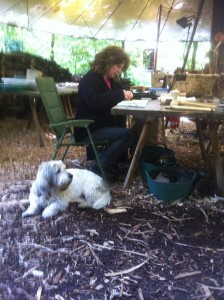 Art with Dudley The Crafty Camping Dog