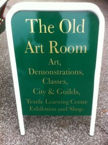 Old Art Room Sign
