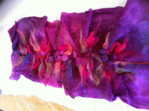 Blush Shibori Felt Part @